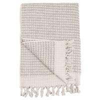 Turkish Body Towel - Popcorn Plush - Light Grey