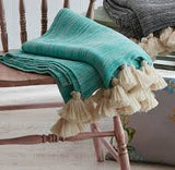 Marble Throw With Tassels