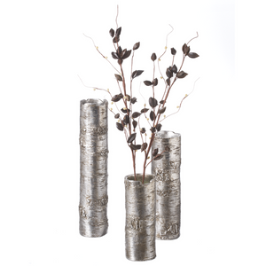 Birch Vase Selection in Bronze