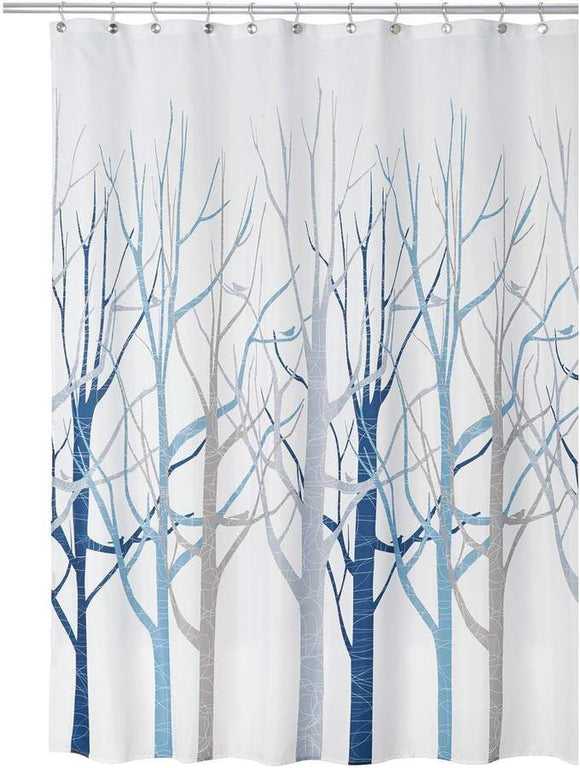 SHOWER CURTAIN FOREST IN BLUE/GRAY