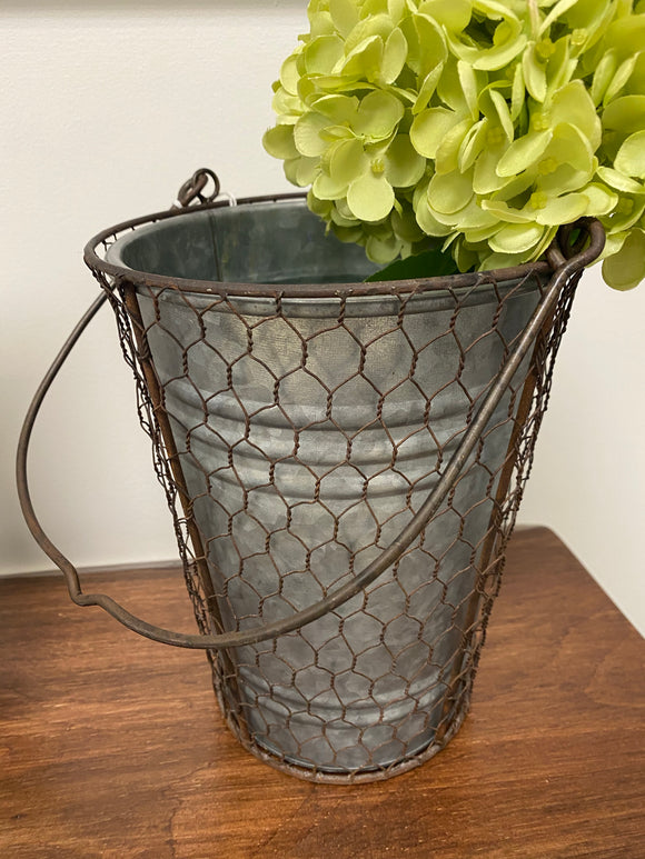 Galvanized Basket Medium