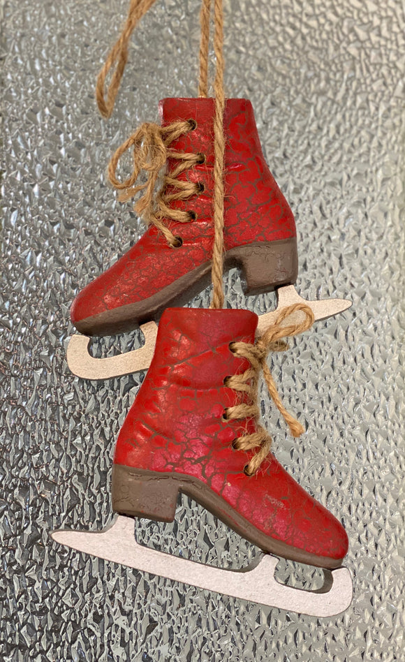Red Skate Ornament