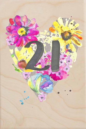 21ST BIRTHDAY-wooden_greeting_card_Sarah_Kelleher_Design=THE WOODEN POSTCARD COMPANY