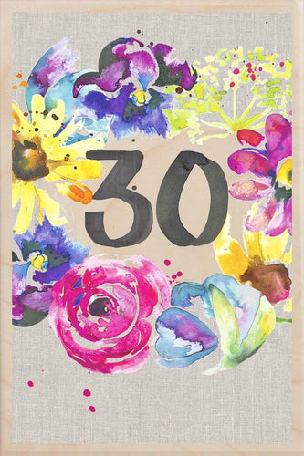 30TH BIRTHDAY-wooden_greeting_card_Sarah_Kelleher_Design=THE WOODEN POSTCARD COMPANY
