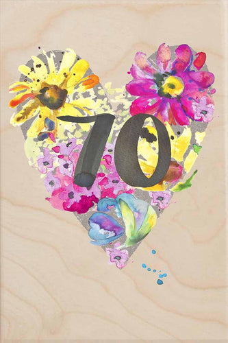 70TH BIRTHDAY-wooden_greeting_card_Sarah_Kelleher_Design=THE WOODEN POSTCARD COMPANY