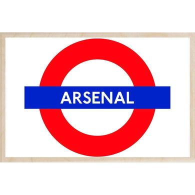 ARSENAL-[wooden_postcard]-[london_transport_museum]-[original_illustration]THE WOODEN POSTCARD COMPANY