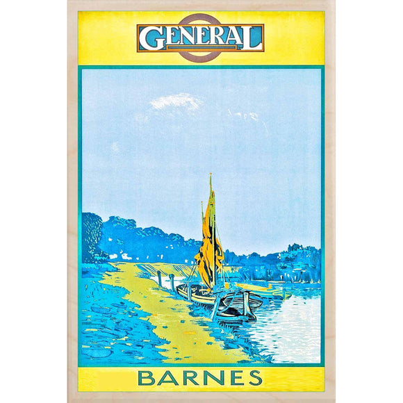 BARNES-[wooden_postcard]-[london_transport_museum]-[original_illustration]THE WOODEN POSTCARD COMPANY