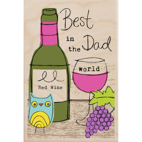 BEST DAD IN THE WORLD-wooden_greeting_card_Sarah_Kelleher_Design=THE WOODEN POSTCARD COMPANY