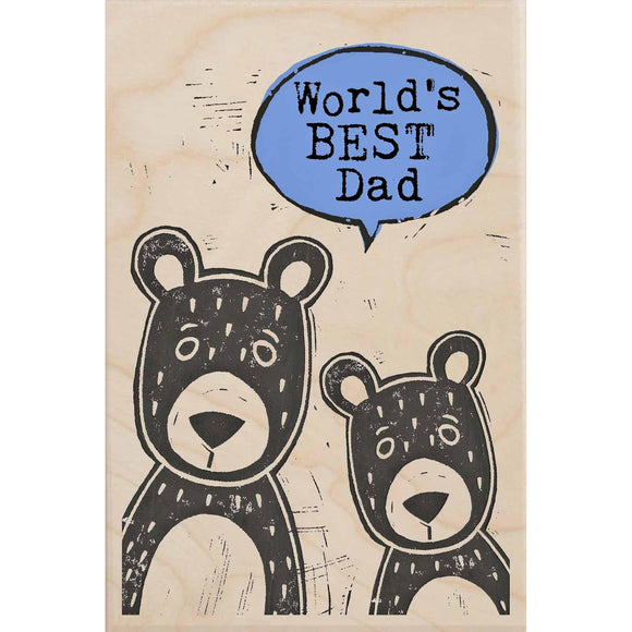 BEST DAD-wooden_greeting_card_Sarah_Kelleher_Design=THE WOODEN POSTCARD COMPANY