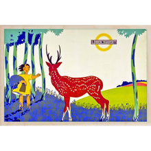 Load image into Gallery viewer, BLUEBELL TIME-[wooden_postcard]-[london_transport_museum]-[original_illustration]THE WOODEN POSTCARD COMPANY