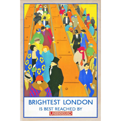 BRIGHTEST LONDON-[wooden_postcard]-[london_transport_museum]-[original_illustration]THE WOODEN POSTCARD COMPANY