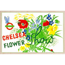 Load image into Gallery viewer, CHELSEA FLOWER SHOW-[wooden_postcard]-[london_transport_museum]-[original_illustration]THE WOODEN POSTCARD COMPANY