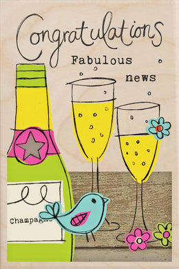 CONGRATULATIONS, FABULOUS NEWS