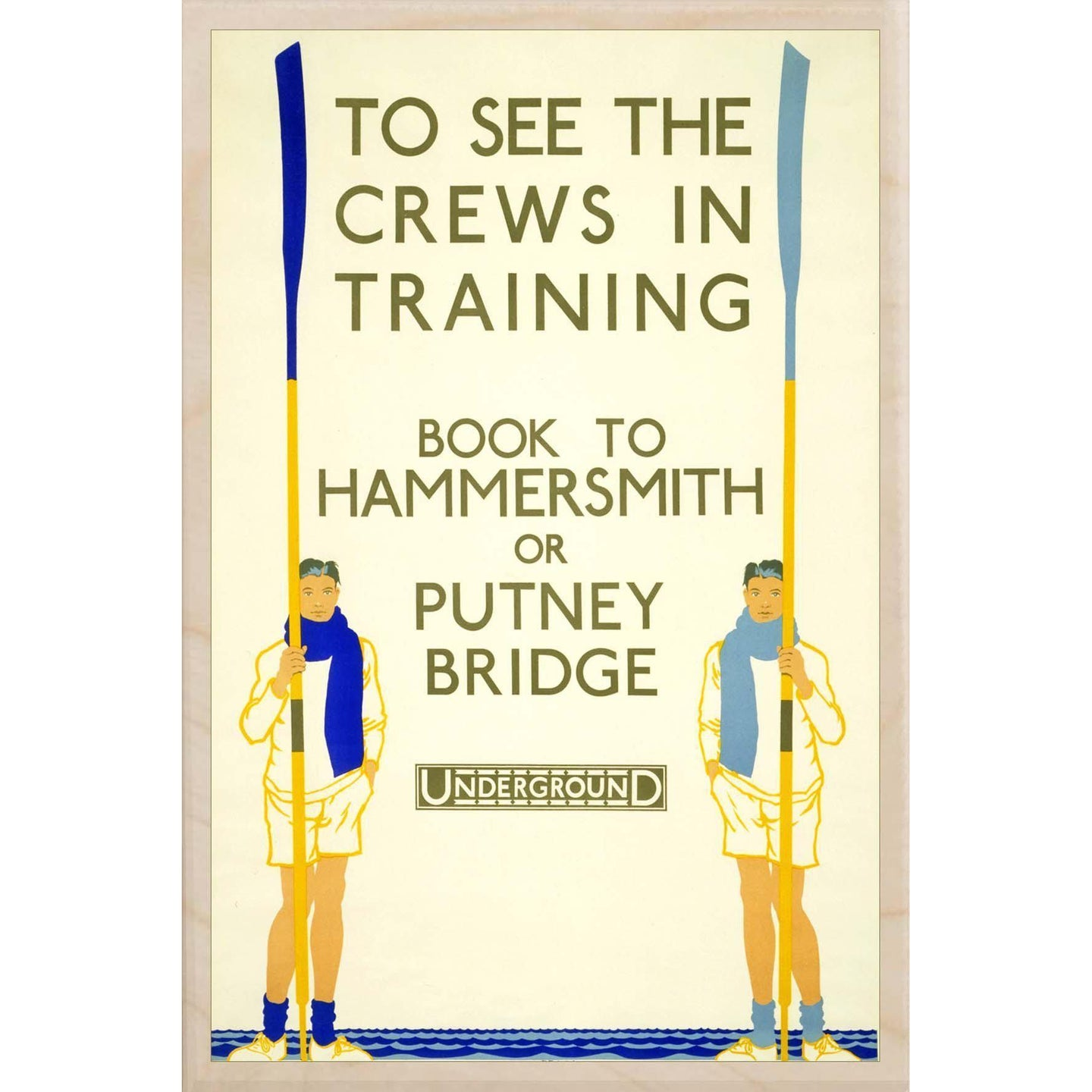 CREWS IN TRAINING-[wooden_postcard]-[london_transport_museum]-[original_illustration]THE WOODEN POSTCARD COMPANY