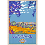 EDGWARE-[wooden_postcard]-[london_transport_museum]-[original_illustration]THE WOODEN POSTCARD COMPANY
