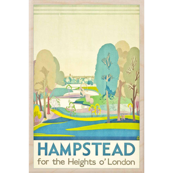 HAMPSTEAD-[wooden_postcard]-[london_transport_museum]-[original_illustration]THE WOODEN POSTCARD COMPANY