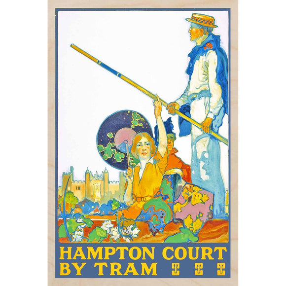 HAMPTON COURT-[wooden_postcard]-[london_transport_museum]-[original_illustration]THE WOODEN POSTCARD COMPANY