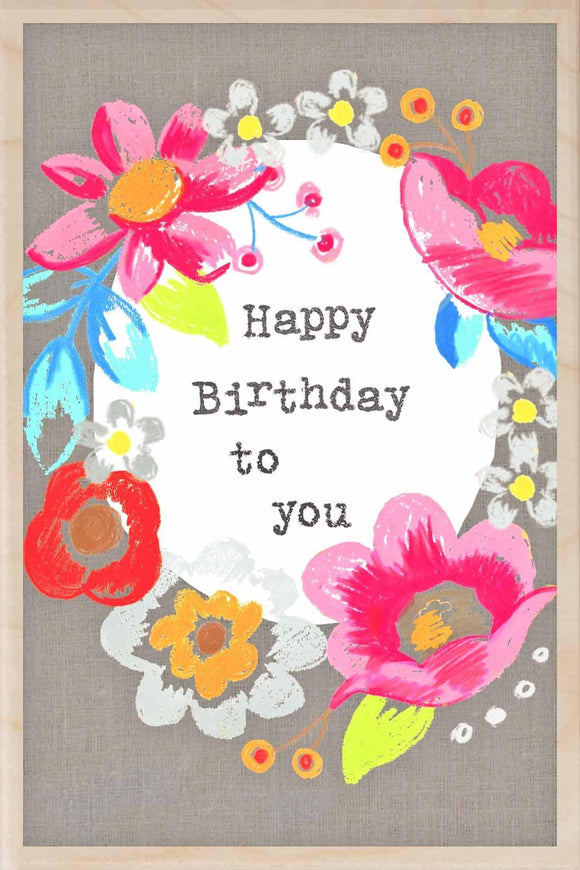 HAPPY BIRTHDAY TO YOU-wooden_greeting_card_Sarah_Kelleher_Design=THE WOODEN POSTCARD COMPANY