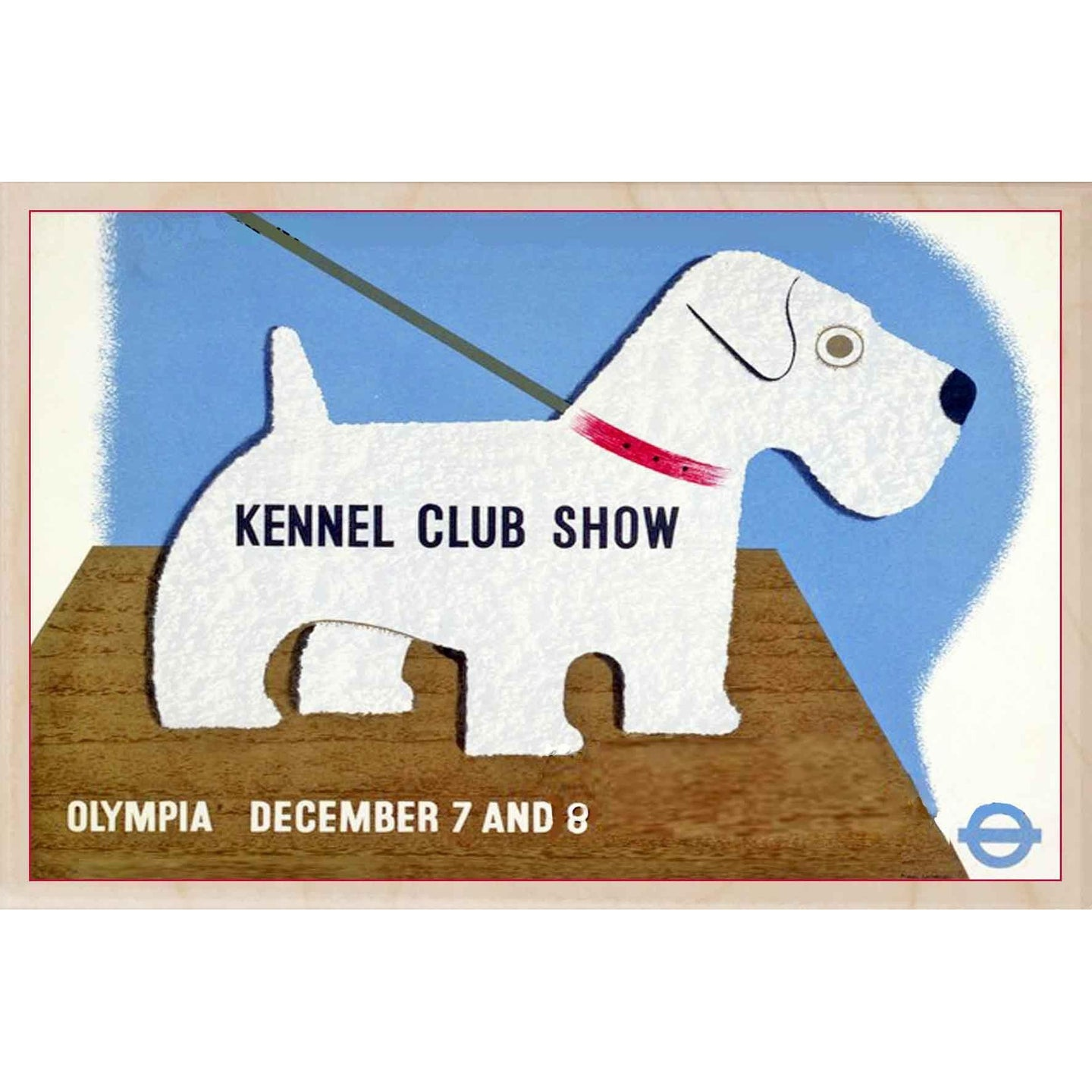 KENNEL CLUB SHOW-[wooden_postcard]-[london_transport_museum]-[original_illustration]THE WOODEN POSTCARD COMPANY