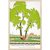 KENSINGTON GARDENS-[wooden_postcard]-[london_transport_museum]-[original_illustration]THE WOODEN POSTCARD COMPANY