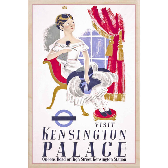 KENSINGTON PALACE-[wooden_postcard]-[london_transport_museum]-[original_illustration]THE WOODEN POSTCARD COMPANY