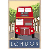LONDON BUS-[wooden_postcard]-[london_transport_museum]-[original_illustration]THE WOODEN POSTCARD COMPANY