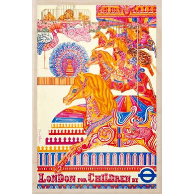 LONDON FOR CHILDREN-[wooden_postcard]-[london_transport_museum]-[original_illustration]THE WOODEN POSTCARD COMPANY