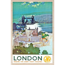 Load image into Gallery viewer, LONDON GWR-[wooden_postcard]-[london_transport_museum]-[original_illustration]THE WOODEN POSTCARD COMPANY