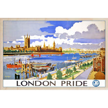 Load image into Gallery viewer, LONDON PRIDE-[wooden_postcard]-[london_transport_museum]-[original_illustration]THE WOODEN POSTCARD COMPANY