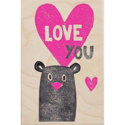 LOVE YOU-wooden_greeting_card_Sarah_Kelleher_Design=THE WOODEN POSTCARD COMPANY