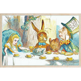 wooden_postcard]MAD HATTER TEA PARTY-THE WOODEN POSTCARD COMPANY-[made_in_great_britain]