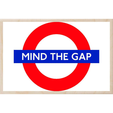 MIND THE GAP-[wooden_postcard]-[london_transport_museum]-[original_illustration]THE WOODEN POSTCARD COMPANY