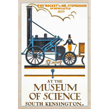 Load image into Gallery viewer, MUSEUM OF SCIENCE-[wooden_postcard]-[london_transport_museum]-[original_illustration]THE WOODEN POSTCARD COMPANY