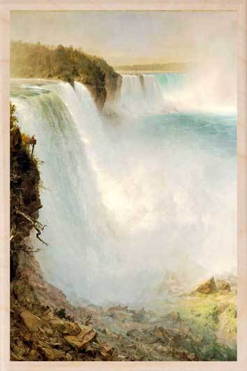 NIAGARA FALLS-[national_galleries]-[Scotland]-[wooden_postcard]THE WOODEN POSTCARD COMPANY