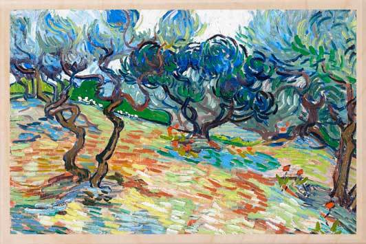 OLIVE TREES-[national_galleries]-[Scotland]-[wooden_postcard]THE WOODEN POSTCARD COMPANY