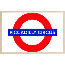 Load image into Gallery viewer, PICCADILLY CIRCUS-[wooden_postcard]-[london_transport_museum]-[original_illustration]THE WOODEN POSTCARD COMPANY