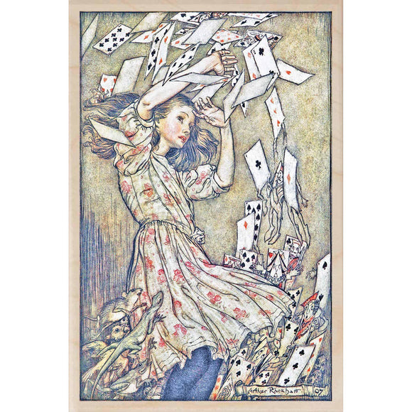 wooden_postcard]RACKHAM SHOWER OF CARDS-THE WOODEN POSTCARD COMPANY-[made_in_great_britain]