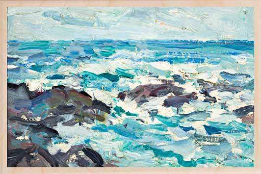 ROCKS AT BARRA-[national_galleries]-[Scotland]-[wooden_postcard]THE WOODEN POSTCARD COMPANY