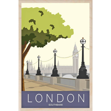 SOUTHBANK-[wooden_postcard]-[london_transport_museum]-[original_illustration]THE WOODEN POSTCARD COMPANY