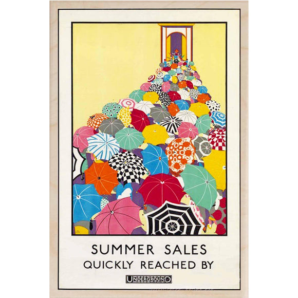 SUMMER SALES-[wooden_postcard]-[london_transport_museum]-[original_illustration]THE WOODEN POSTCARD COMPANY