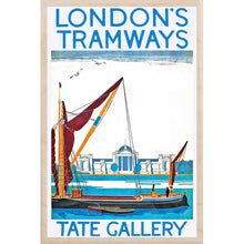 Load image into Gallery viewer, TATE GALLERY-[wooden_postcard]-[london_transport_museum]-[original_illustration]THE WOODEN POSTCARD COMPANY