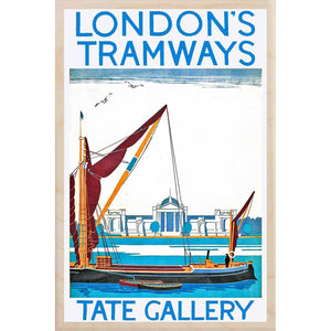 TATE GALLERY-[wooden_postcard]-[london_transport_museum]-[original_illustration]THE WOODEN POSTCARD COMPANY