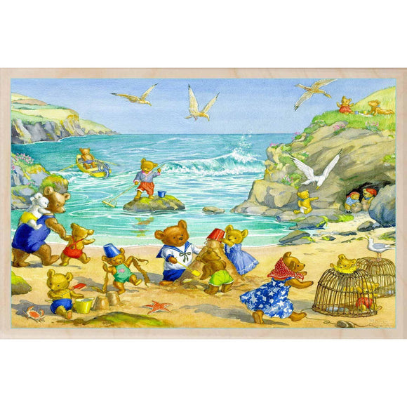 TEDDIES ON THE BEACH