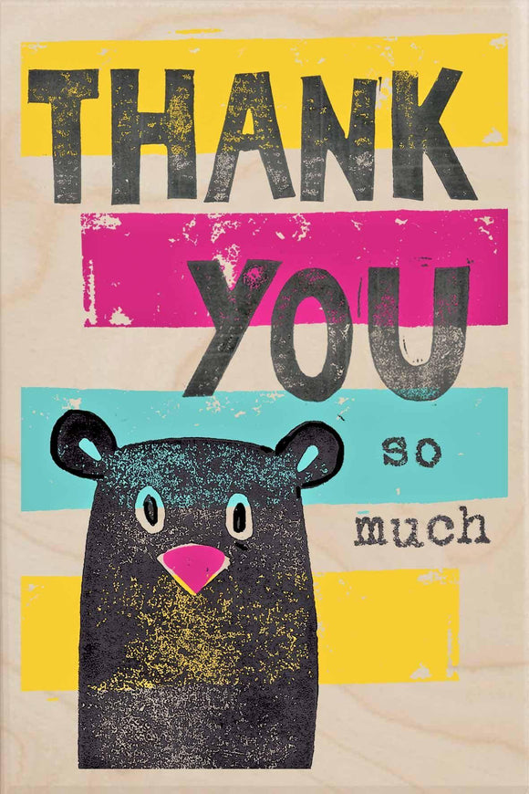 THANK YOU SO MUCH-wooden_greeting_card_Sarah_Kelleher_Design=THE WOODEN POSTCARD COMPANY