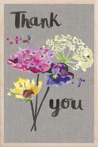 THANK YOU-wooden_greeting_card_Sarah_Kelleher_Design=THE WOODEN POSTCARD COMPANY
