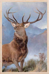 THE MONARCH OF THE GLEN-[national_galleries]-[Scotland]-[wooden_postcard]THE WOODEN POSTCARD COMPANY