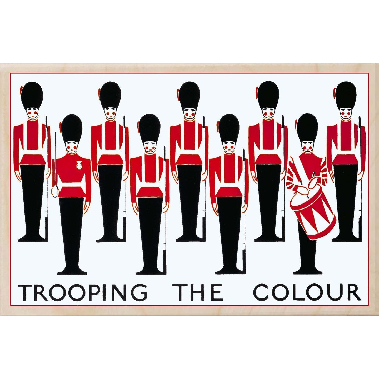 TROOPING THE COLOUR 1923-[wooden_postcard]-[london_transport_museum]-[original_illustration]THE WOODEN POSTCARD COMPANY