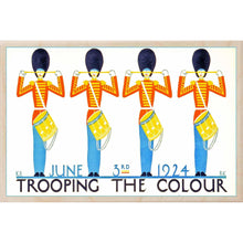 Load image into Gallery viewer, TROOPING THE COLOUR 1924-[wooden_postcard]-[london_transport_museum]-[original_illustration]THE WOODEN POSTCARD COMPANY