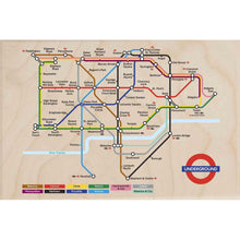 Load image into Gallery viewer, TUBE MAP-[wooden_postcard]-[london_transport_museum]-[original_illustration]THE WOODEN POSTCARD COMPANY