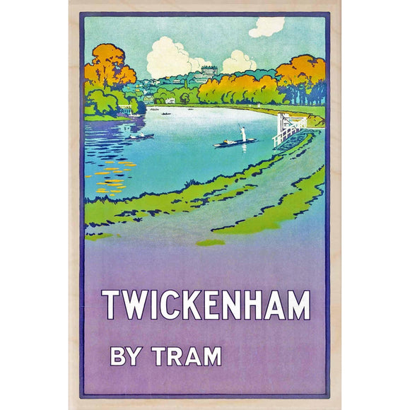 TWICKENHAM-[wooden_postcard]-[london_transport_museum]-[original_illustration]THE WOODEN POSTCARD COMPANY